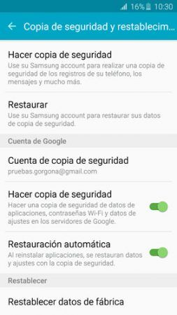 restaurar y copia de seguridad