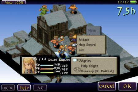 objetivo FINAL FANTASY TACTICS