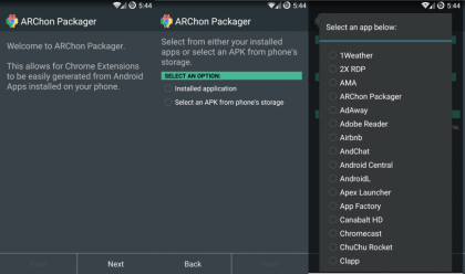 ARChon Packager app
