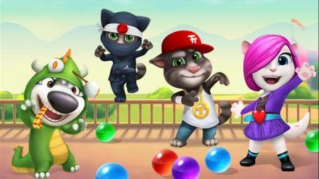 juego Talking Tom Bubble Shooter